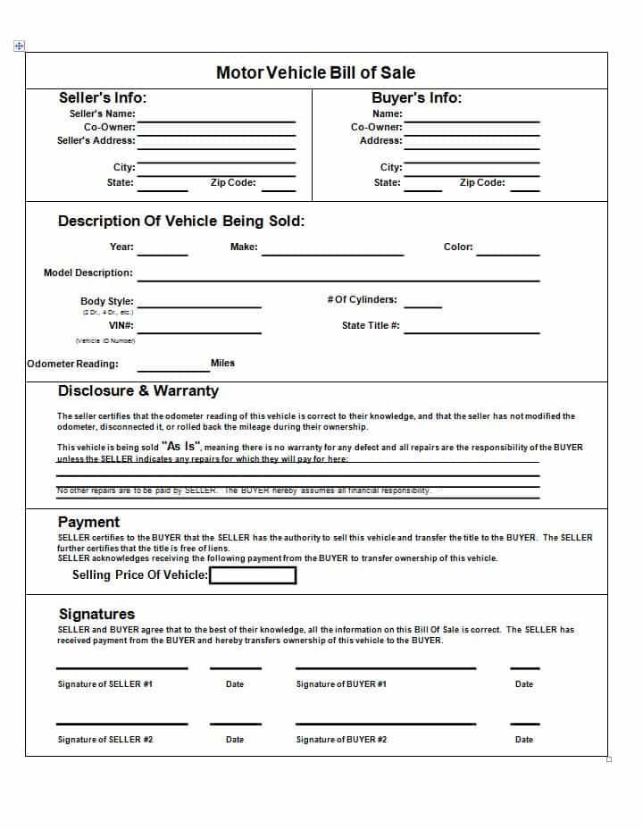 Microsoft Bill Of Sale Template And Microsoft Word Bill Of Sale Template Free