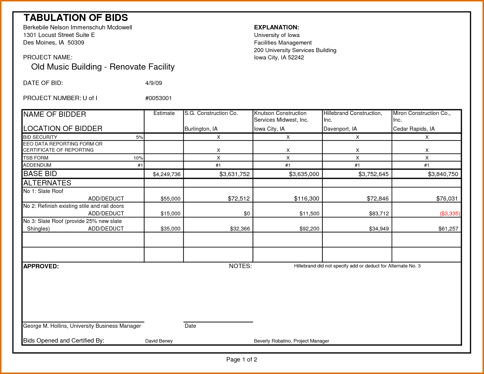 Contractors Estimates Pdf And Free Printable Estimate Forms