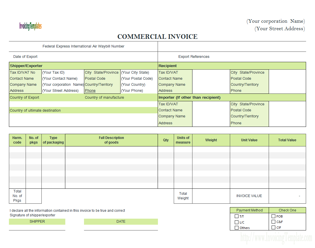 Free Fill In Invoice Templates And Blank Lawn Care Invoice