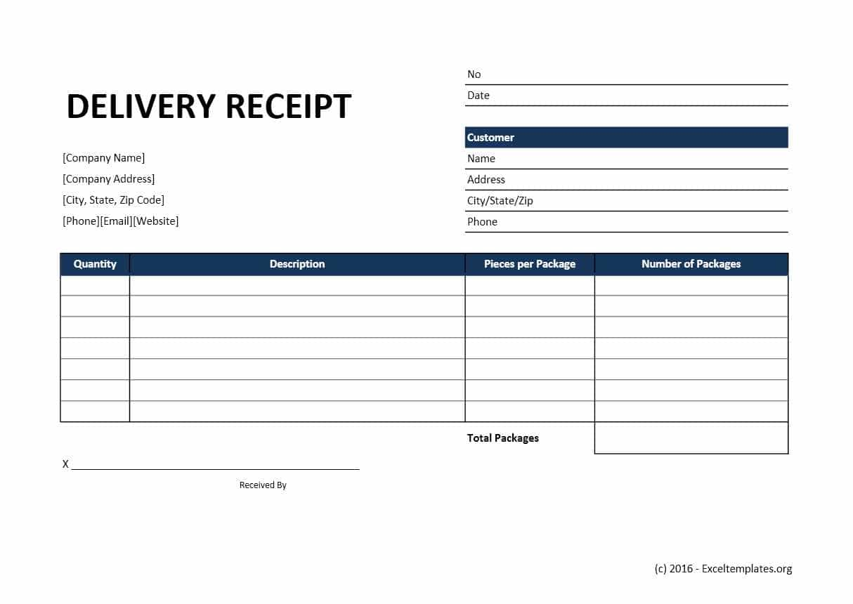 Printable Delivery Receipt And Basic Invoice Template