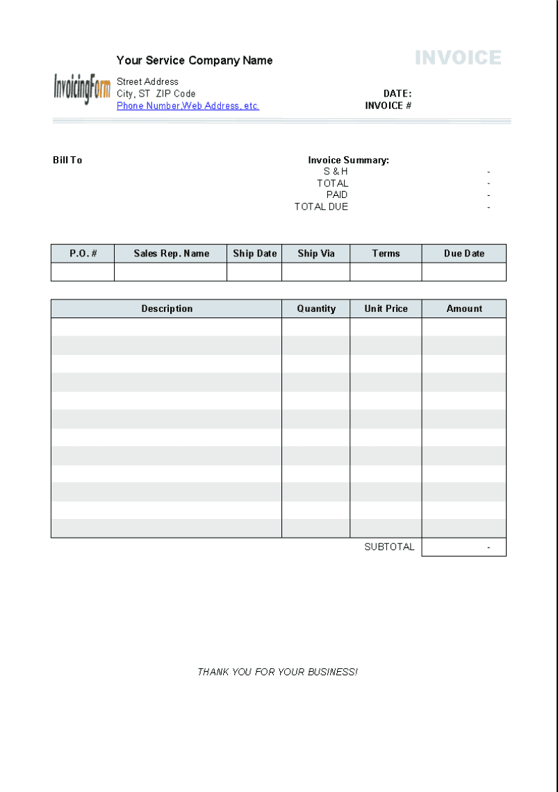 Printable Electric Bill Pdf And Invoice Home