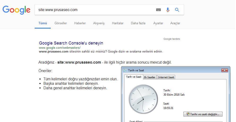 Sitemiz Google Tarafından Indexlenmemiş