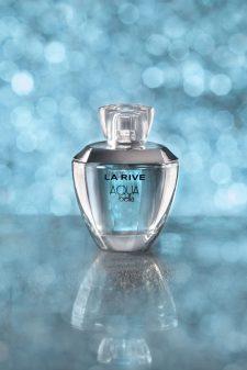 perfum la rive błękitny na lustrze