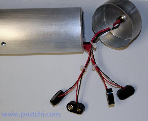 Power input of do-it-yourself high-power UV/IR/visible flashlight by David Prutchi PhD www.prutchi.com www.diyPhysics.com