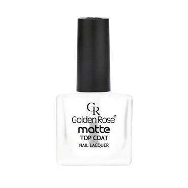 golden rose matte top coat nail lacquer - mat nadlak za nohte