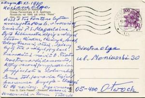 List ks. Tadeusza Fedorowicza do siostry Olgi Fedorowicz, 6.11.1990