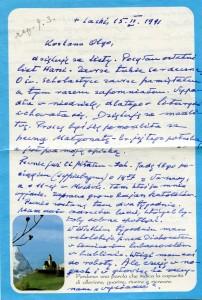 List ks. Tadeusza Fedorowicza do siostry Olgi Fedorowicz, 15.02.1991
