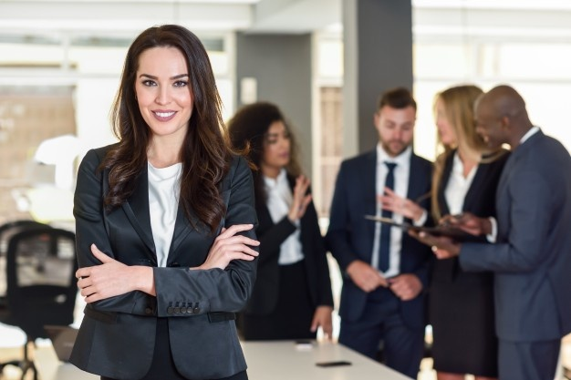 Woman in leadership role