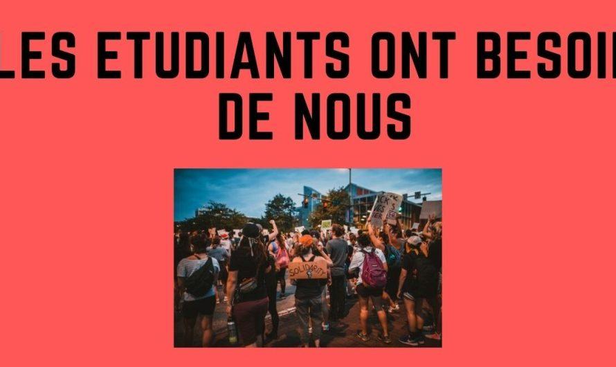LES ÉTUDIANTS ONT BESOIN DE NOTRE AIDE !!