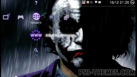 Animated Wallpaper For Mobile Phone Gif Ps3 Themes 187 Dynamic Joker Rain Theme