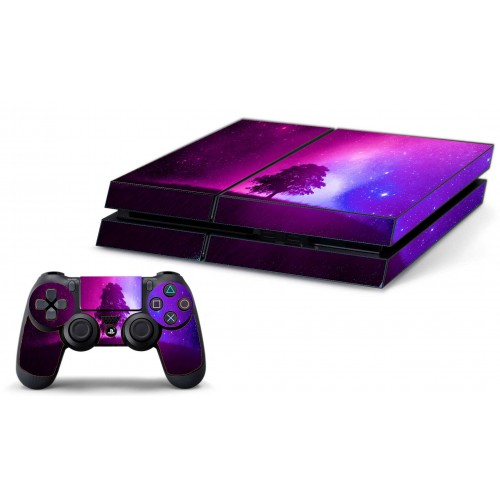 PS4 Skin Pink and Purple Forest