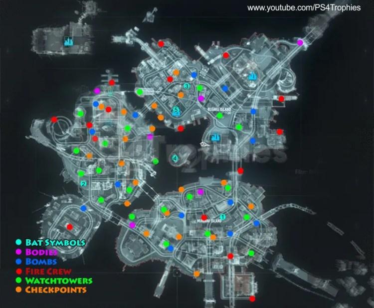 Batman Arkham Knight Map