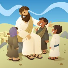 stock-illustration-7285272-jesus-and-children