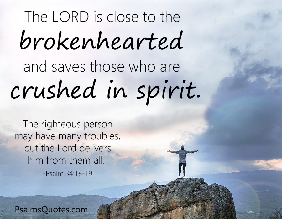 Psalm 34:18-19 - Bible Verse on Healing