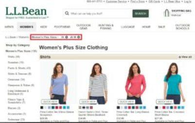 l.l. bean-plus-size clothing