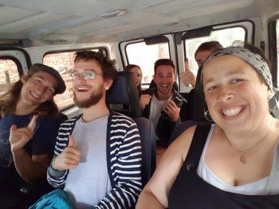 plus-size backpacker bulgaria veliko tarnovo aquavan road trip