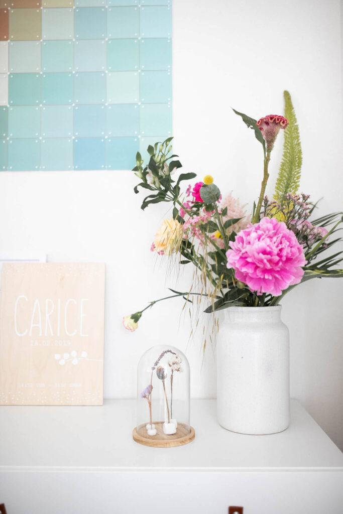 droogbloemen onder stolp