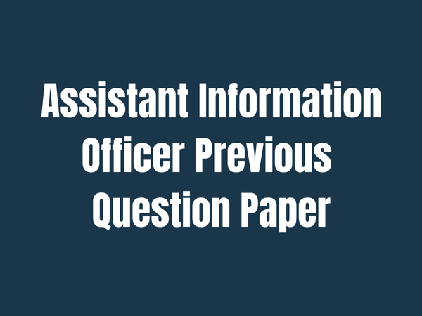 assistant information officer previous question paper
