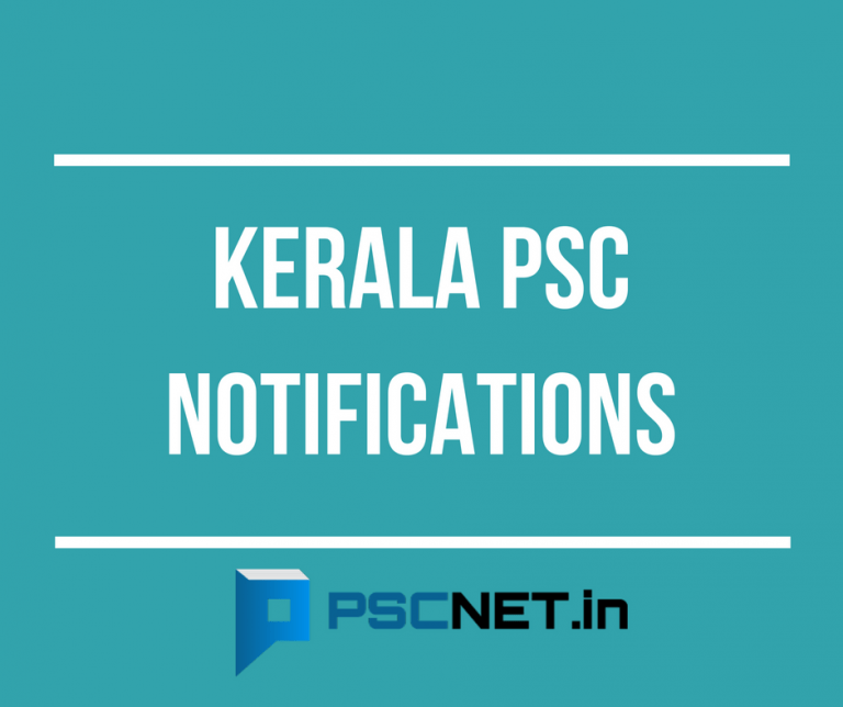 Kerala PSC Notifications