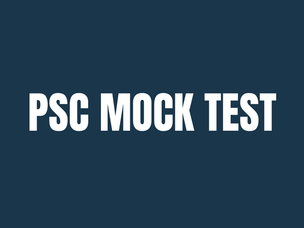 PSC Mock Test University Assistant