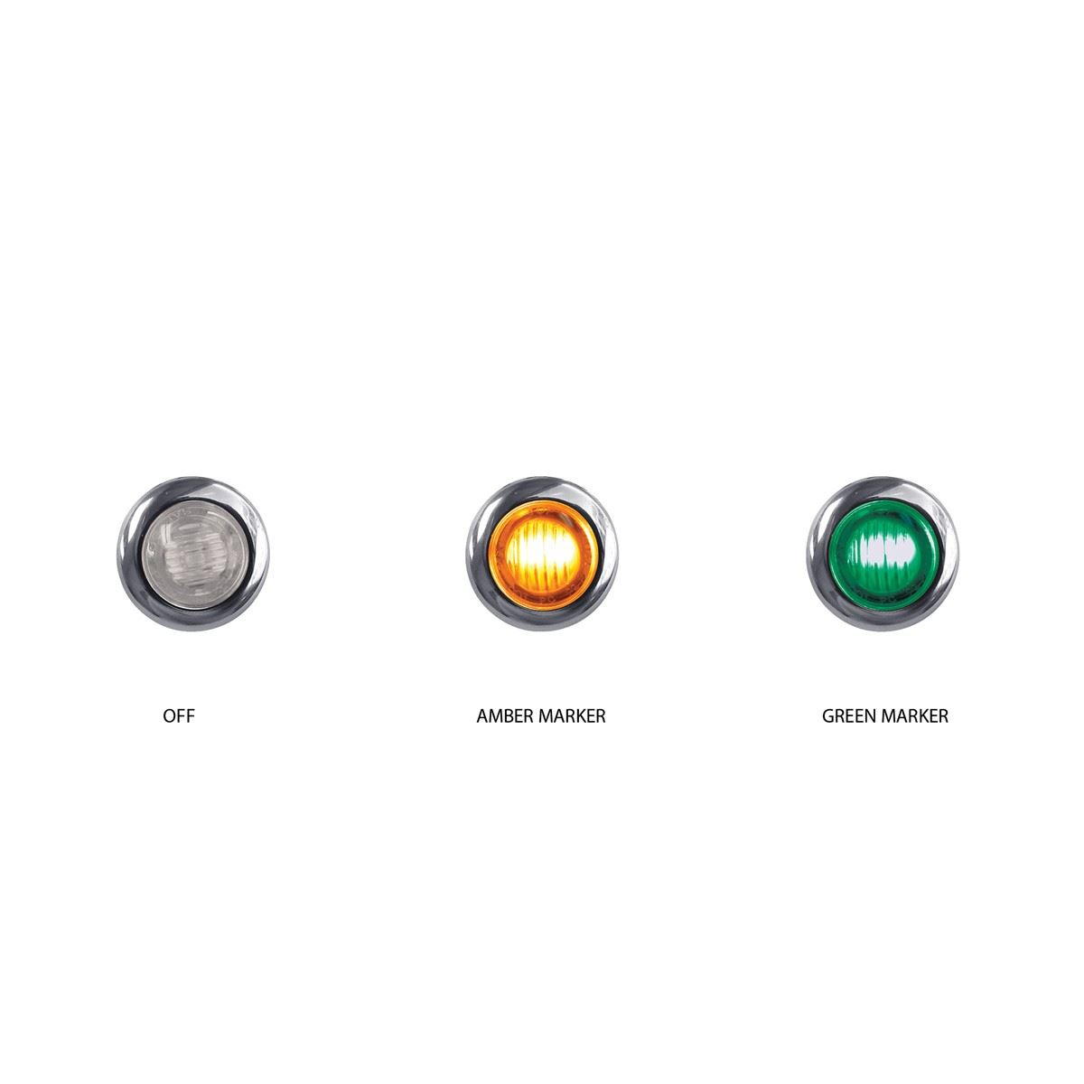 Tled Bx3ag Led Mini Button Dual Revolution Amber Green
