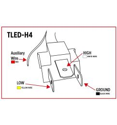 tled h4 trux led projector headlight with white toyota headlight plug wiring diagram 1996 [ 1200 x 1200 Pixel ]