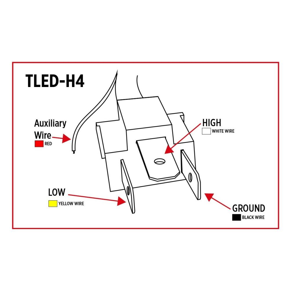 medium resolution of tled h4 trux led projector headlight with white toyota headlight plug wiring diagram 1996