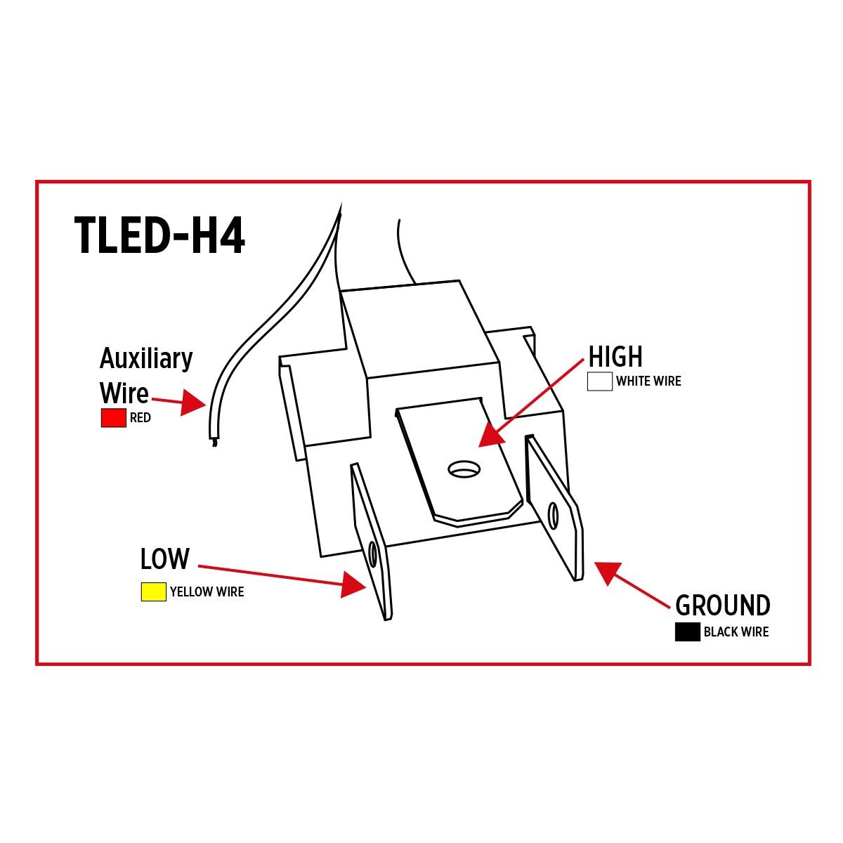 hight resolution of tled h4 trux led projector headlight with white toyota headlight plug wiring diagram 1996