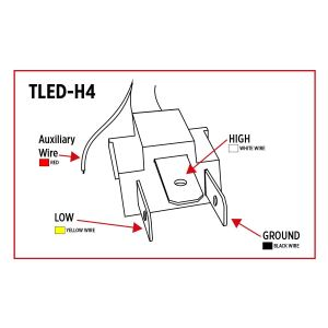 TLEDH4, Trux LED Projector Headlight with White