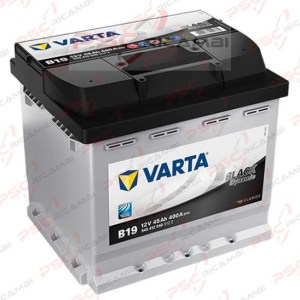BATTERIA AUTO VARTA BLACK DYNAMIC B19 45Ah 12V 400A