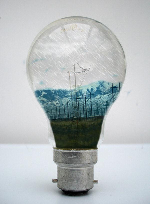 light bulb creative photo
