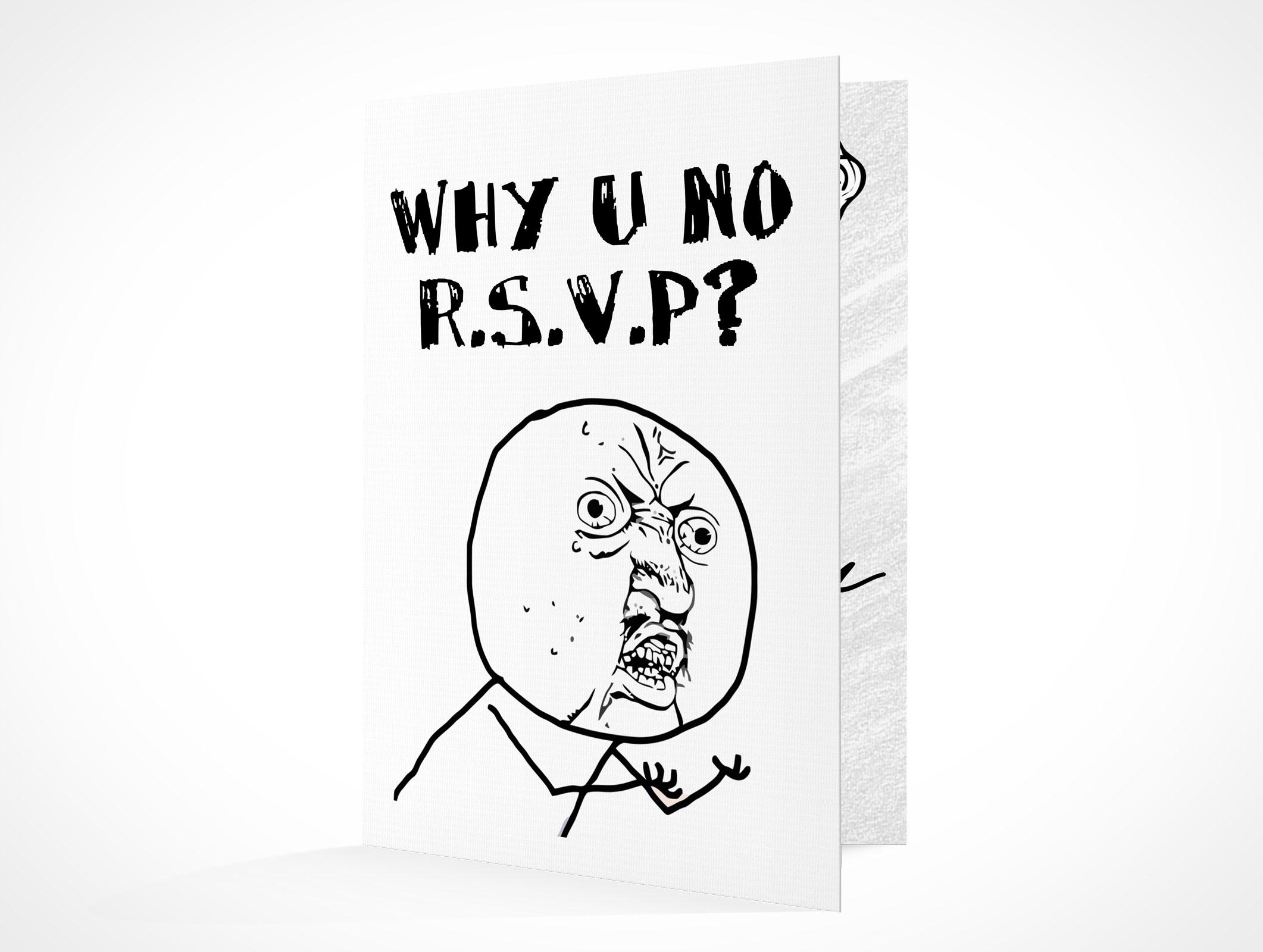 RSVPCARD001 • Market Your PSD Mockups for RSVP