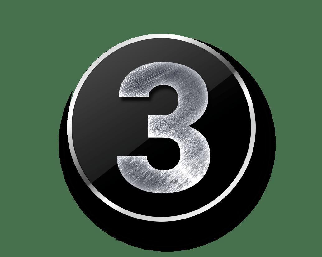 Metal Numbers Template Psd
