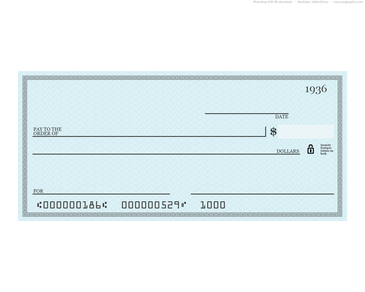 hight resolution of blank blue check