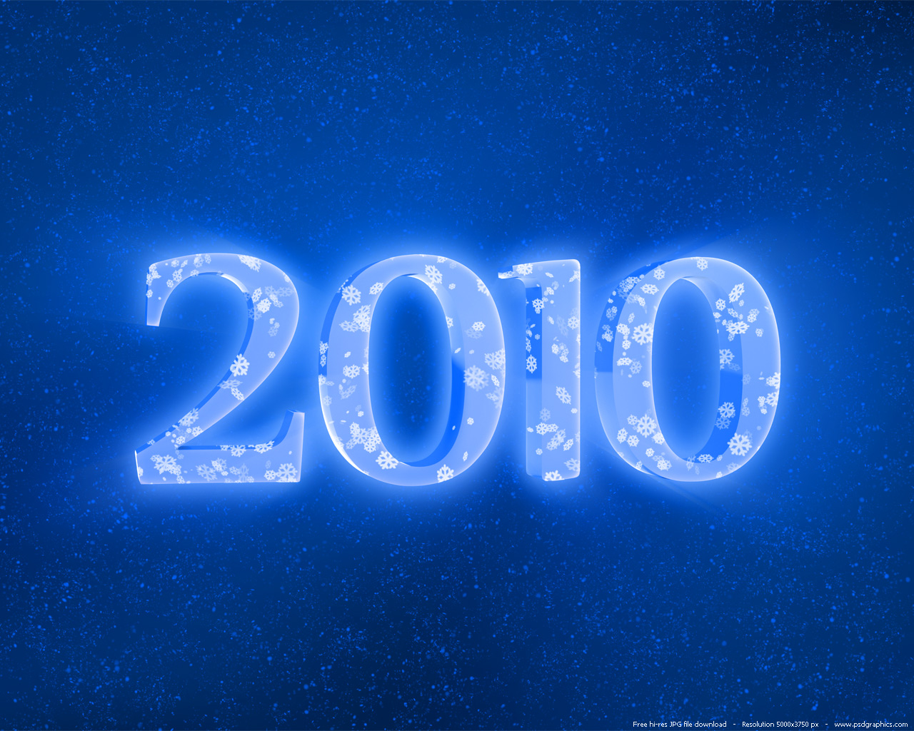 Blue And Red 2010 Year Backgrounds PSDGraphics