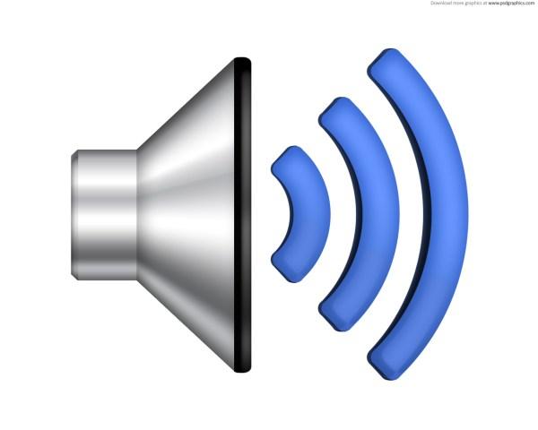 Speaker volume icon PSD PSDGraphics