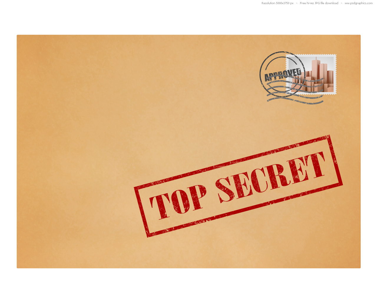 hight resolution of top secret mail