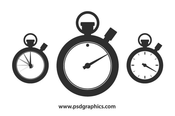 Vector stopwatch shape template