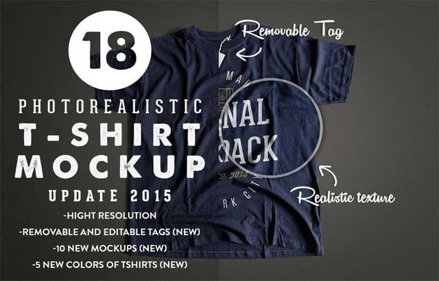 Photorealistic T Shirt Mockup 2 ByGraphicHero Co Free Download