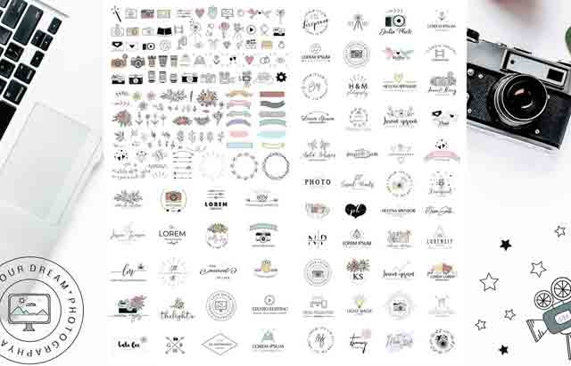 Photography Logo Pack BySwitzergirl Creativemarket Free Download1