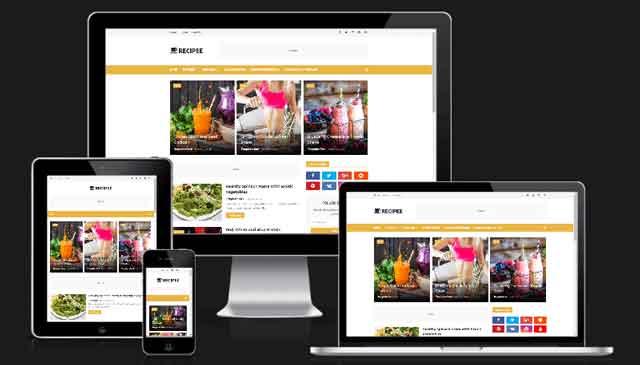 recipee-food-blogger-template-premium-free