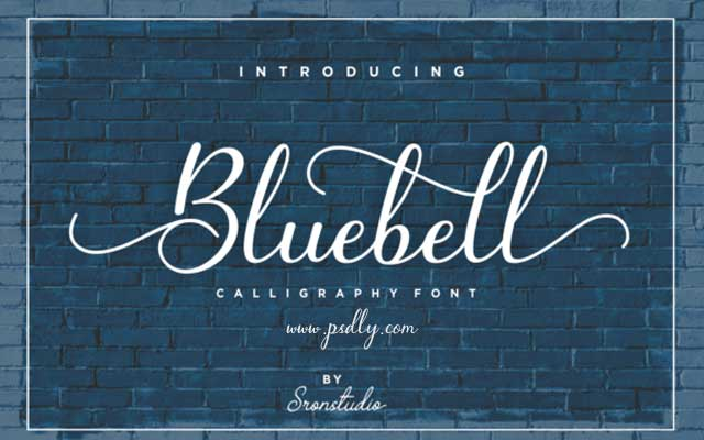 Bluebell Calligraphy Font