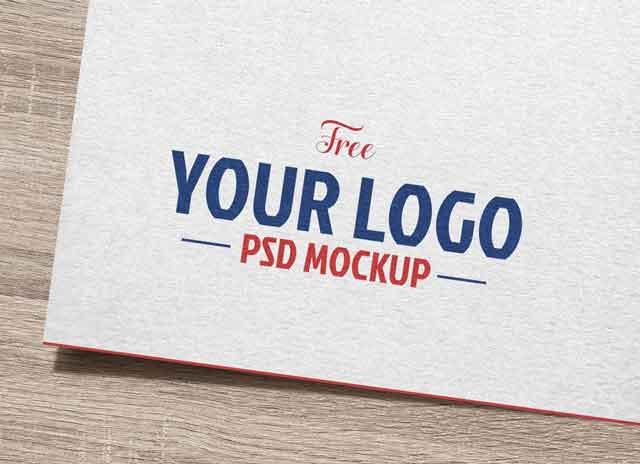 Free Natural White Paper Logo Logotype Mockup PSD