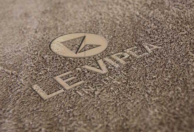 Leather Texture Background Logo Mockup PSD