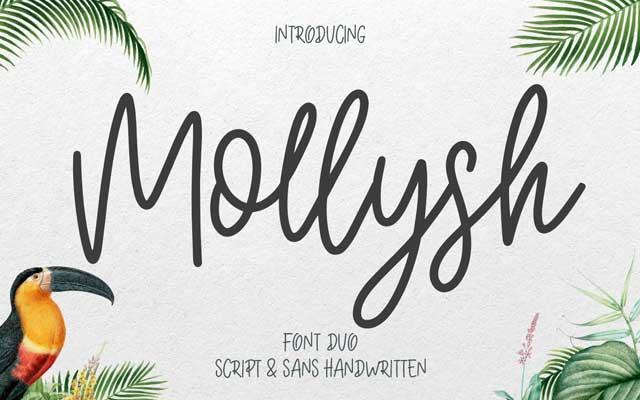 Mollysh Calligraphy Font