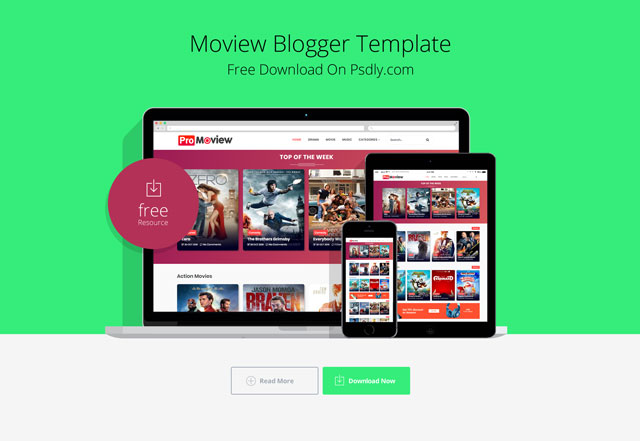 Moview Blogger Template Premium Version free download