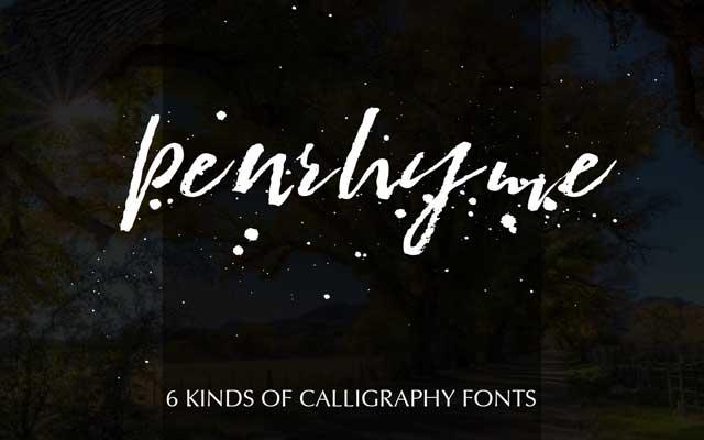 Penrhyme Calligraphy Font