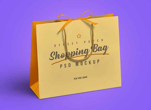 Shopping Bag Logo Mockup Free