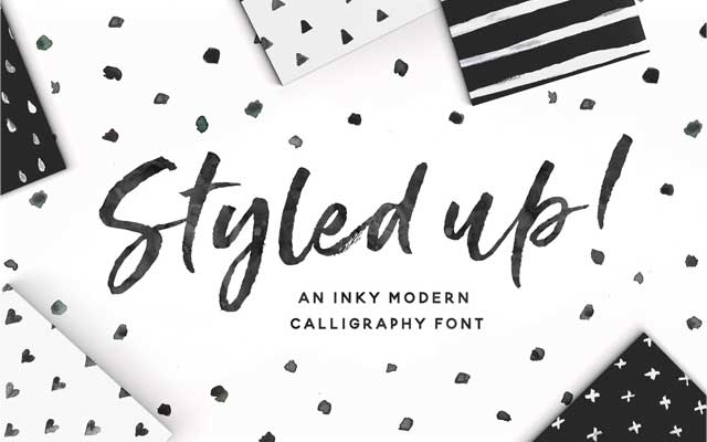 Styled Up Brush Calligraphy Font