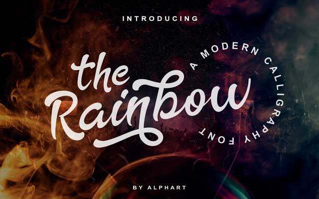 The Rainbow Calligraphy Font